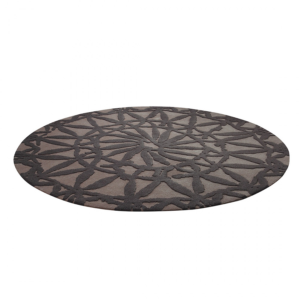 tapis rond oriental lounge taupe esprit home 200x200. Black Bedroom Furniture Sets. Home Design Ideas