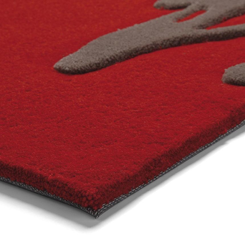 tapis esprit home moderne brainstorm rouge 170x240. Black Bedroom Furniture Sets. Home Design Ideas