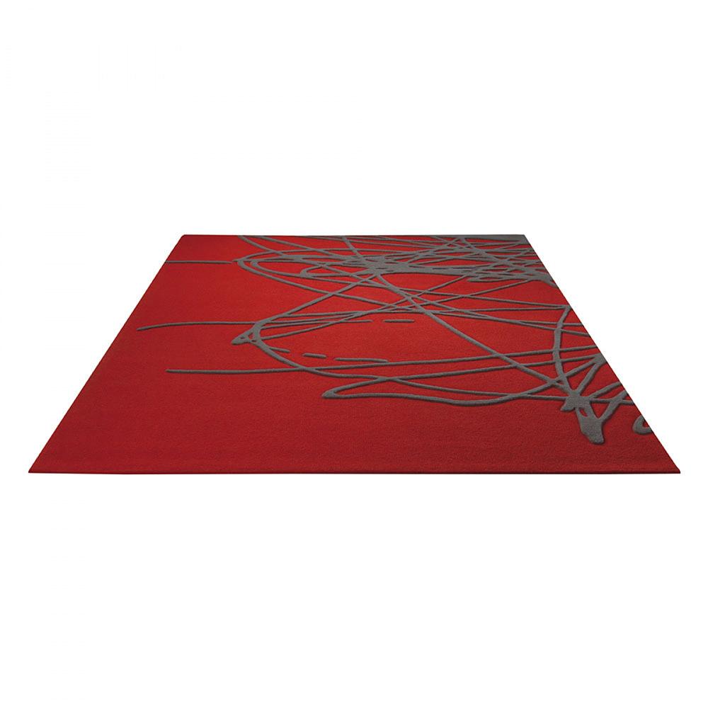 tapis rouge moderne brainstorm esprit home 200x300. Black Bedroom Furniture Sets. Home Design Ideas