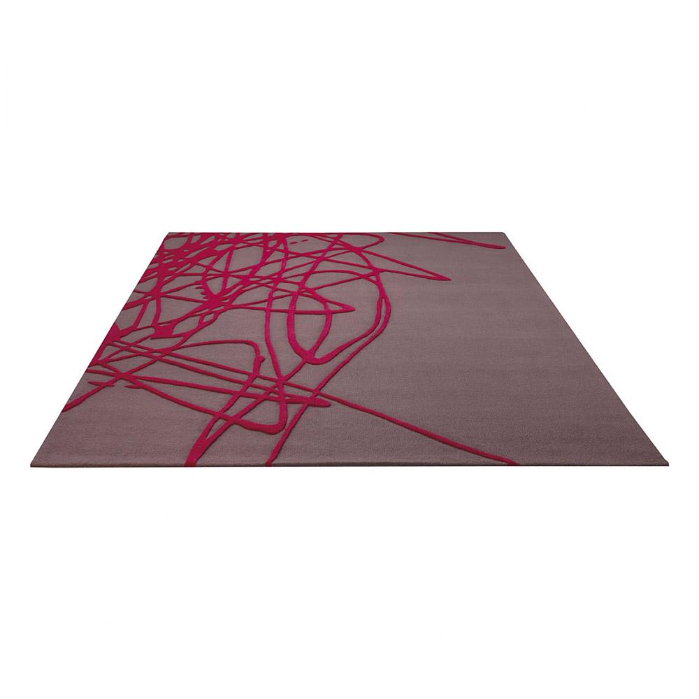 tapis brainstorm taupe moderne esprit home 120x180. Black Bedroom Furniture Sets. Home Design Ideas