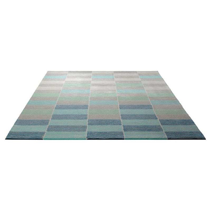 tapis tuft main fida bleu esprit home 170x240. Black Bedroom Furniture Sets. Home Design Ideas