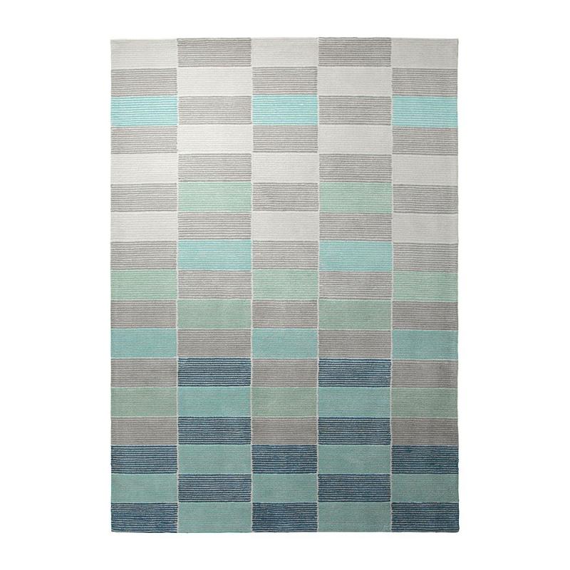 tapis bleu fida esprit home 140x200. Black Bedroom Furniture Sets. Home Design Ideas
