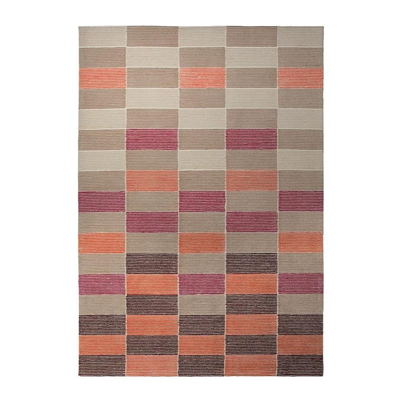 tapis moderne fida orange esprit home 70x140. Black Bedroom Furniture Sets. Home Design Ideas