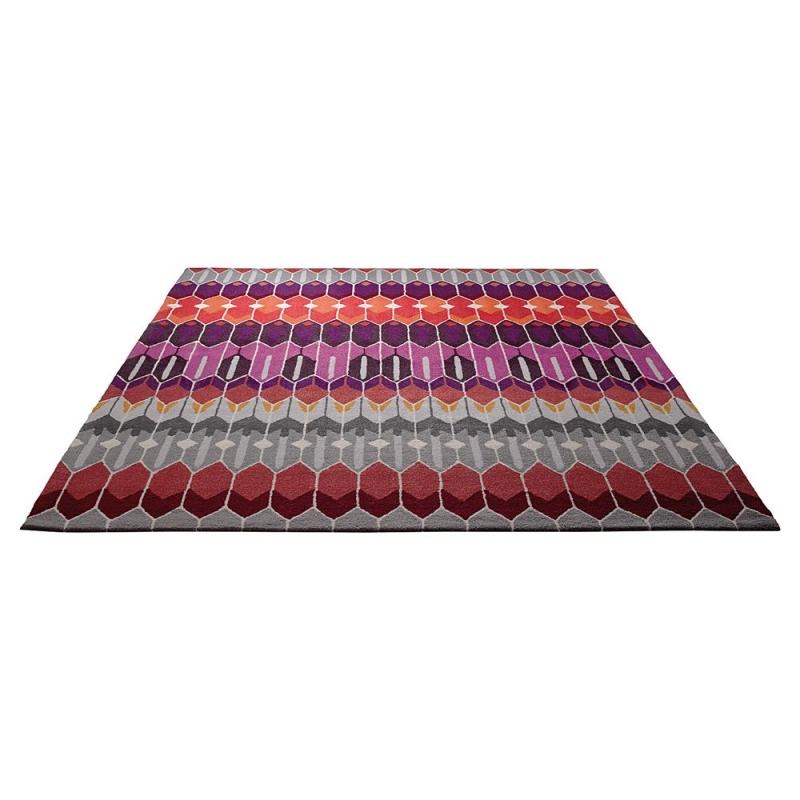 Tapis laine multicolore maison design - Laine pour tapis ...