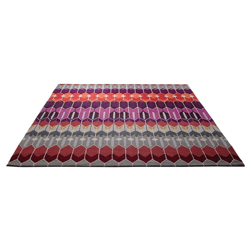Tapis en laine multicolore esprit home sahara 200x300 - Tapis laine multicolore ...