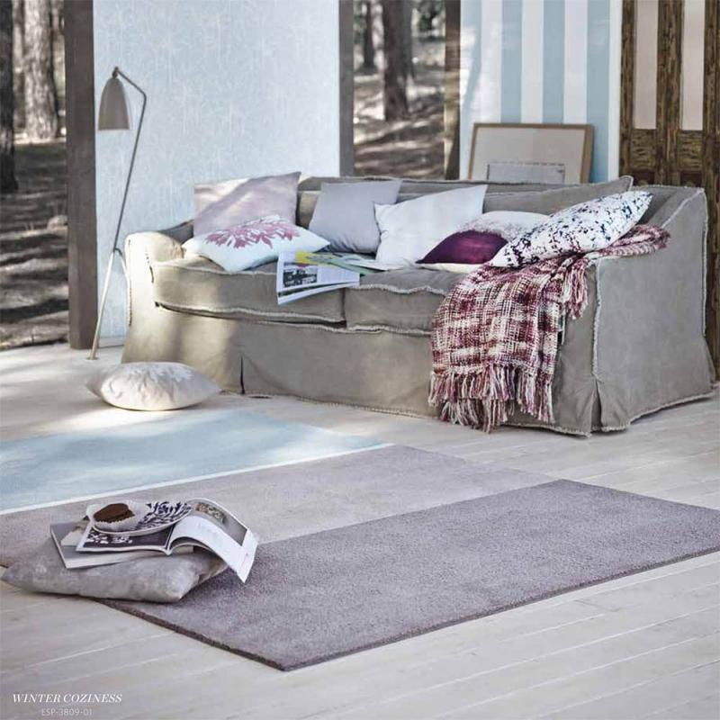 tapis moderne winter coziness bleu esprit home 70x140. Black Bedroom Furniture Sets. Home Design Ideas