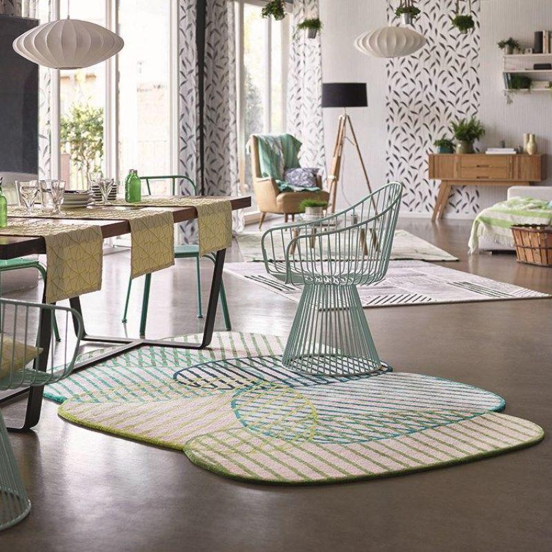 tapis graphic jungle moderne vert 140x200. Black Bedroom Furniture Sets. Home Design Ideas