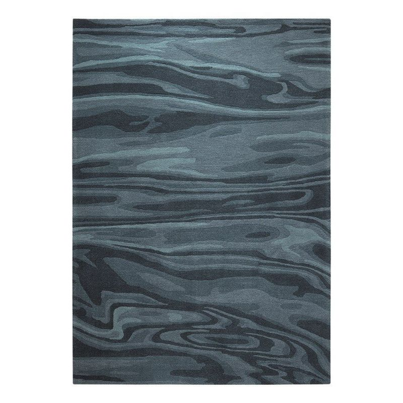 tapis moderne deep water bleu esprit 170x240. Black Bedroom Furniture Sets. Home Design Ideas