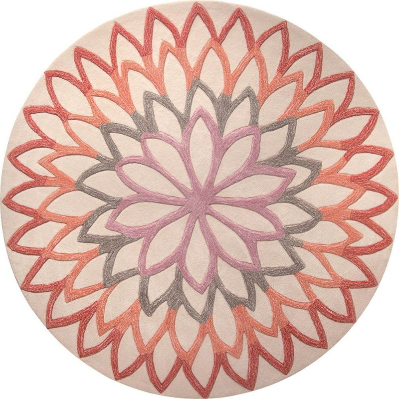 tapis moderne esprit orange lotus flower 100 rd. Black Bedroom Furniture Sets. Home Design Ideas