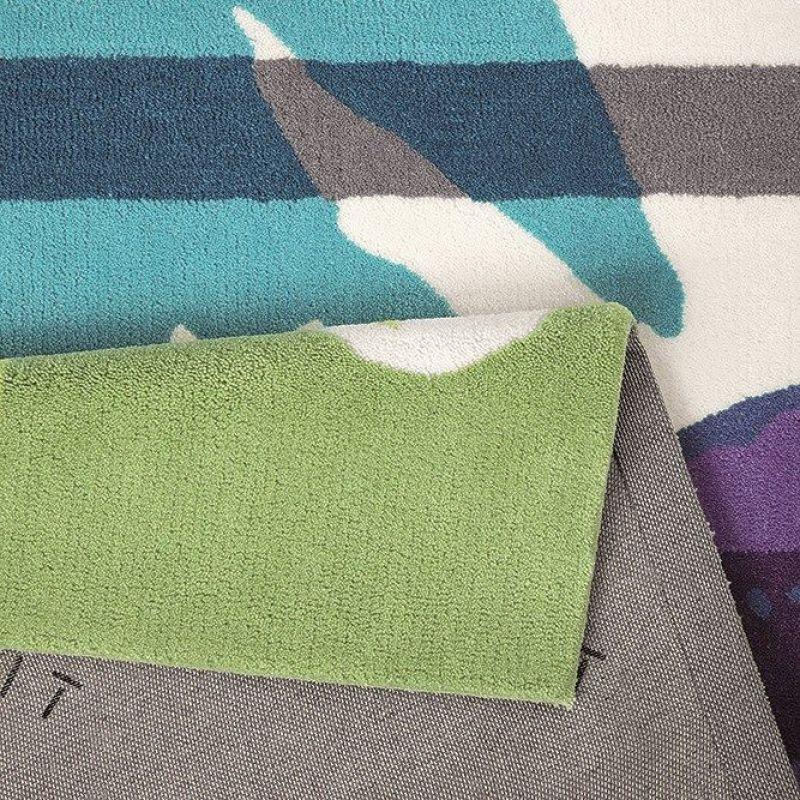 tapis floria moderne vert esprit 90x160. Black Bedroom Furniture Sets. Home Design Ideas