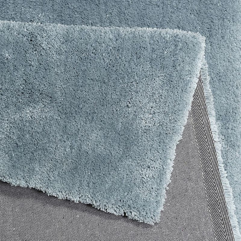 tapis shaggy relaxx gris bleu esprit 70x140. Black Bedroom Furniture Sets. Home Design Ideas