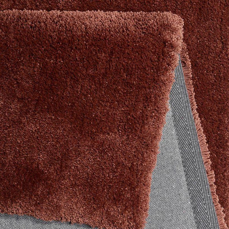 tapis shaggy relaxx rouge brique esprit 70x140. Black Bedroom Furniture Sets. Home Design Ideas