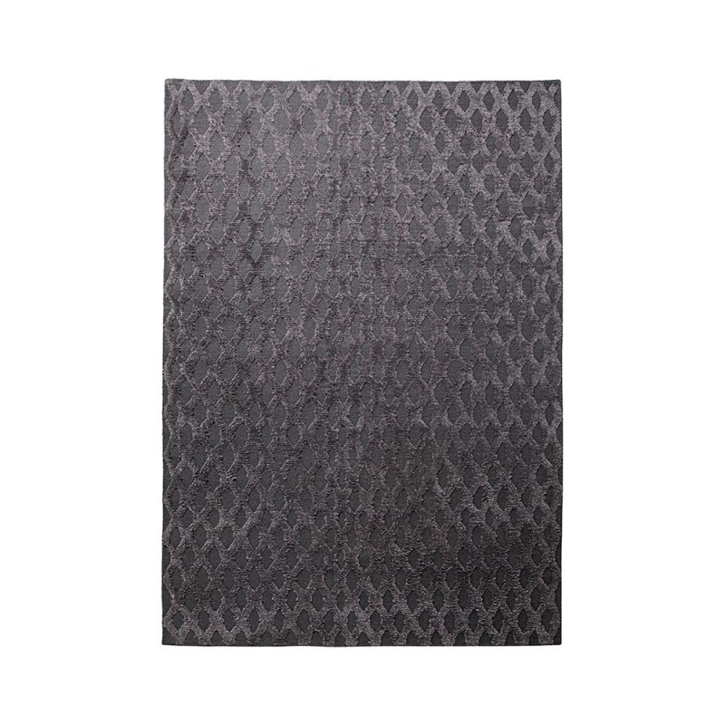 Tapis gris anthracite esprit home laine et pashmina cyclone 80x150 - Tapis gris anthracite ...