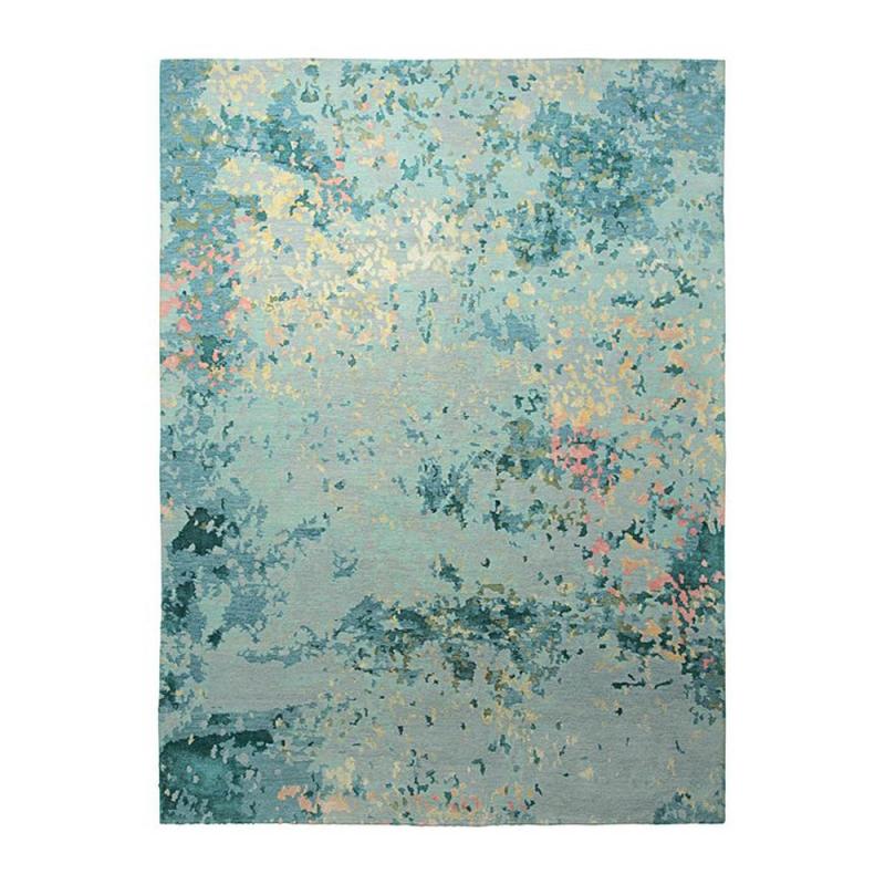Tapis Bleu Laine Et Soie Alima Esprit Home 130x190