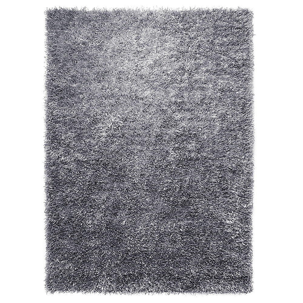 Tapis cool glamour shaggy gris esprit home 140x200 - Tapis shaggy gris perle ...