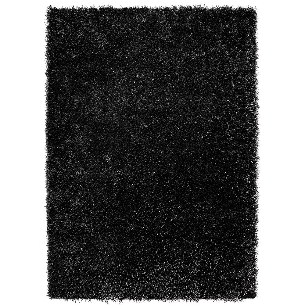 tapis shaggy cool glamour esprit home noir 200x300. Black Bedroom Furniture Sets. Home Design Ideas