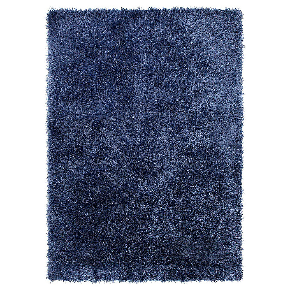 tapis cool glamour shaggy bleu esprit home 120x180. Black Bedroom Furniture Sets. Home Design Ideas