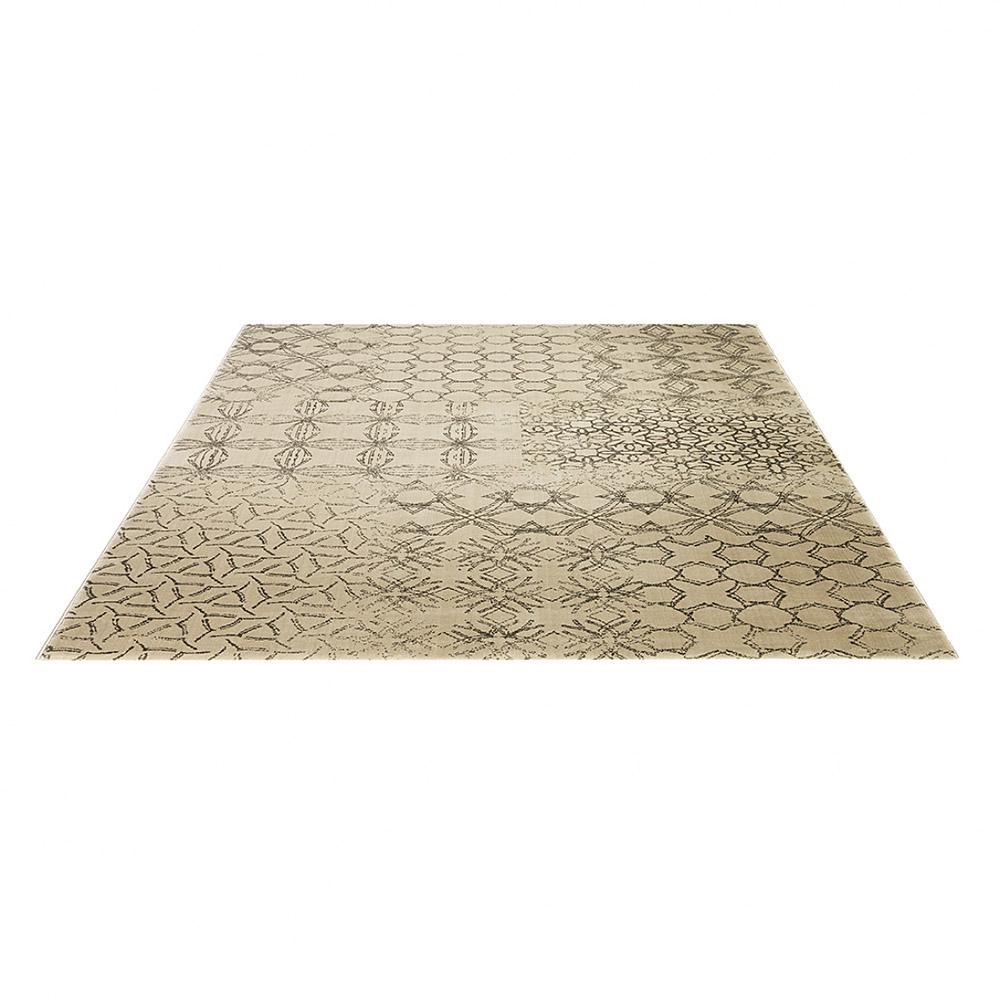 tapis moderne hamptons beige clair esprit home 80x150. Black Bedroom Furniture Sets. Home Design Ideas