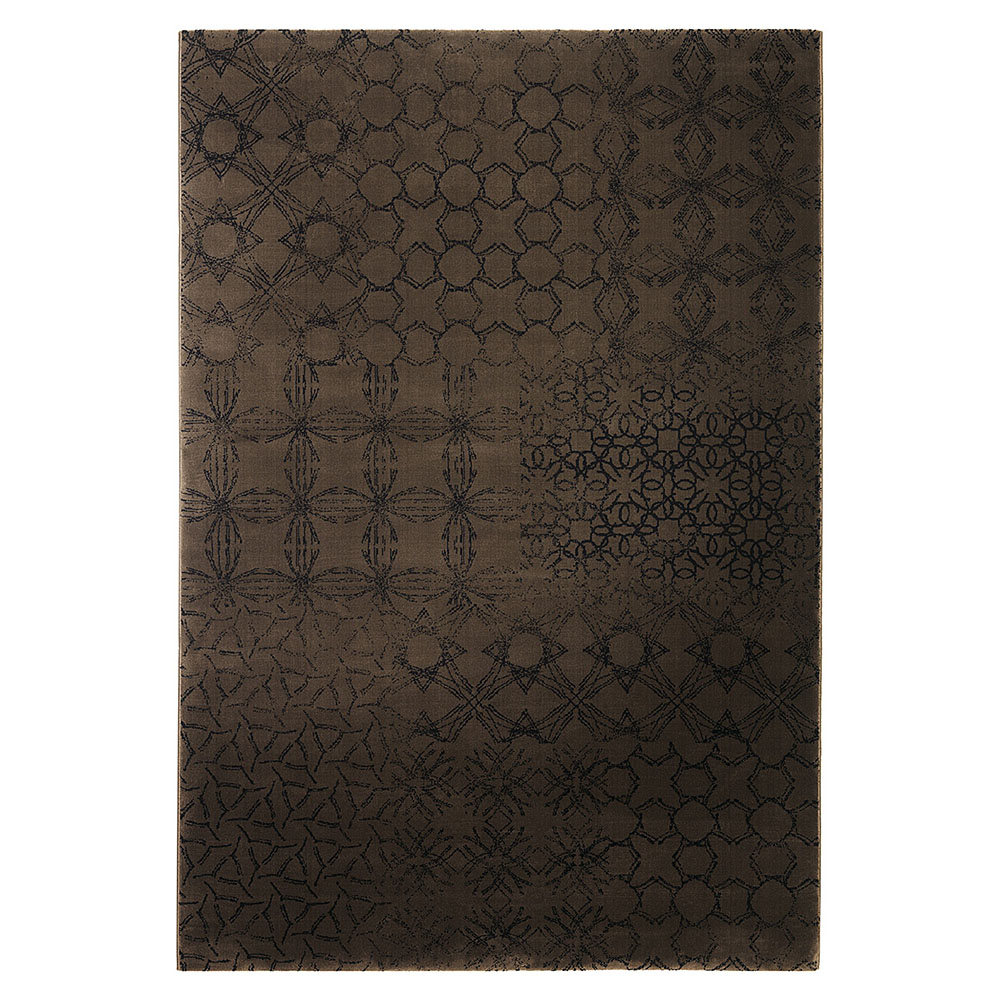 tapis moderne hamptons chocolat esprit home 80x150. Black Bedroom Furniture Sets. Home Design Ideas