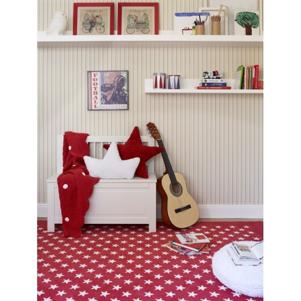 tapis enfant lorena canals estrellitas rouge 140x200. Black Bedroom Furniture Sets. Home Design Ideas