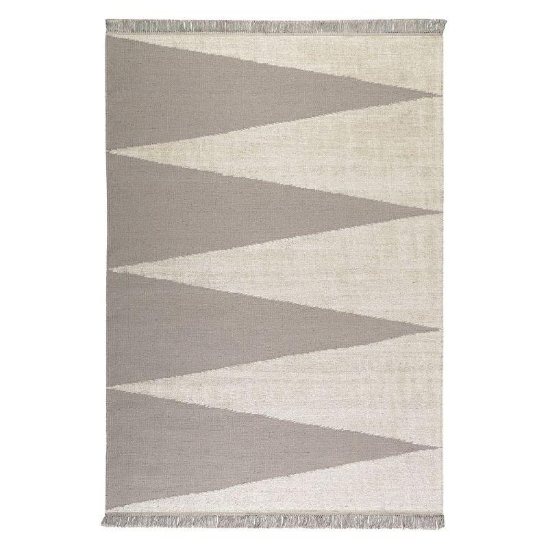 tapis taupe et blanc moderne smart triangle carpets co 160x230. Black Bedroom Furniture Sets. Home Design Ideas