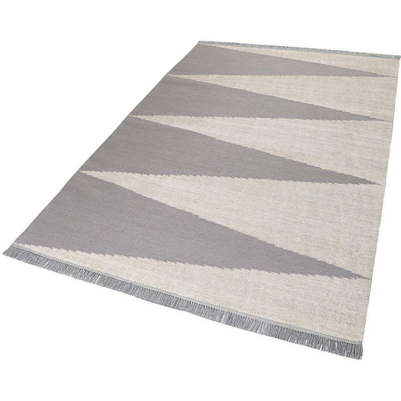 tapis gris et blanc moderne smart triangle carpets co 160x230. Black Bedroom Furniture Sets. Home Design Ideas