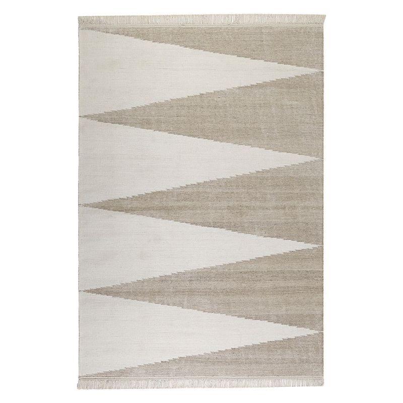 Tapis Beige Et Blanc Moderne Smart Triangle Carpets Co 160x230