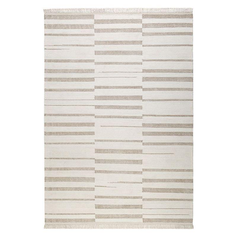 Tapis Beige Et Blanc Moderne Skid Marks Carpets Co 160x230