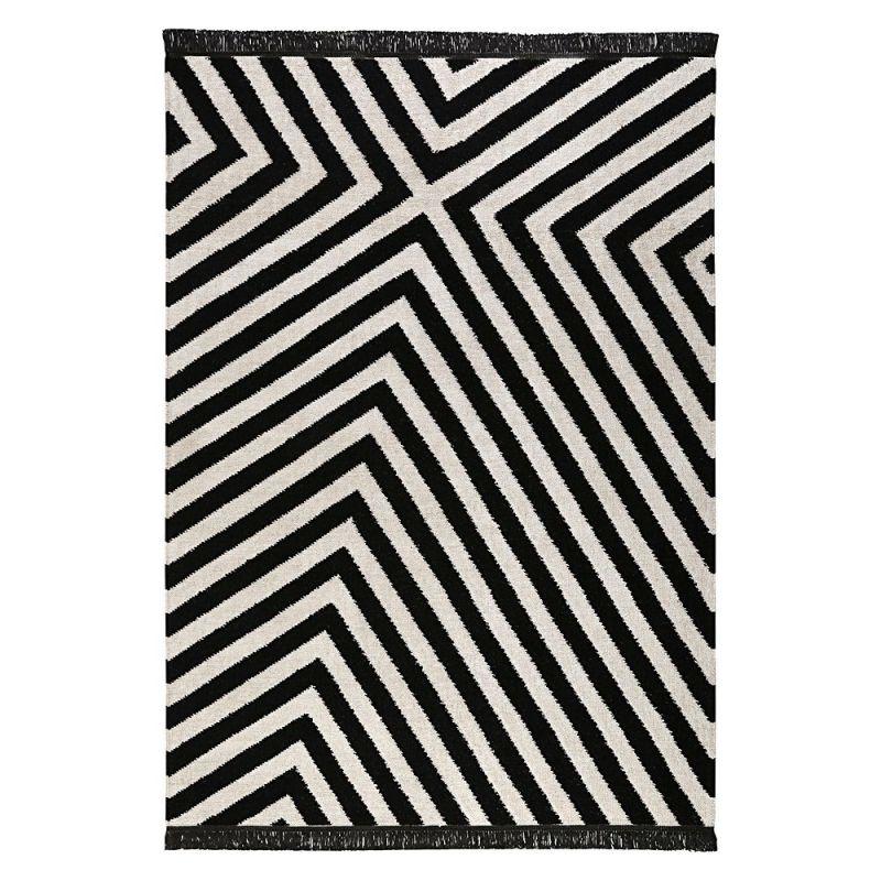 Tapis Moderne Noir Et Blanc Edgy Corners Carpets Co 130x190