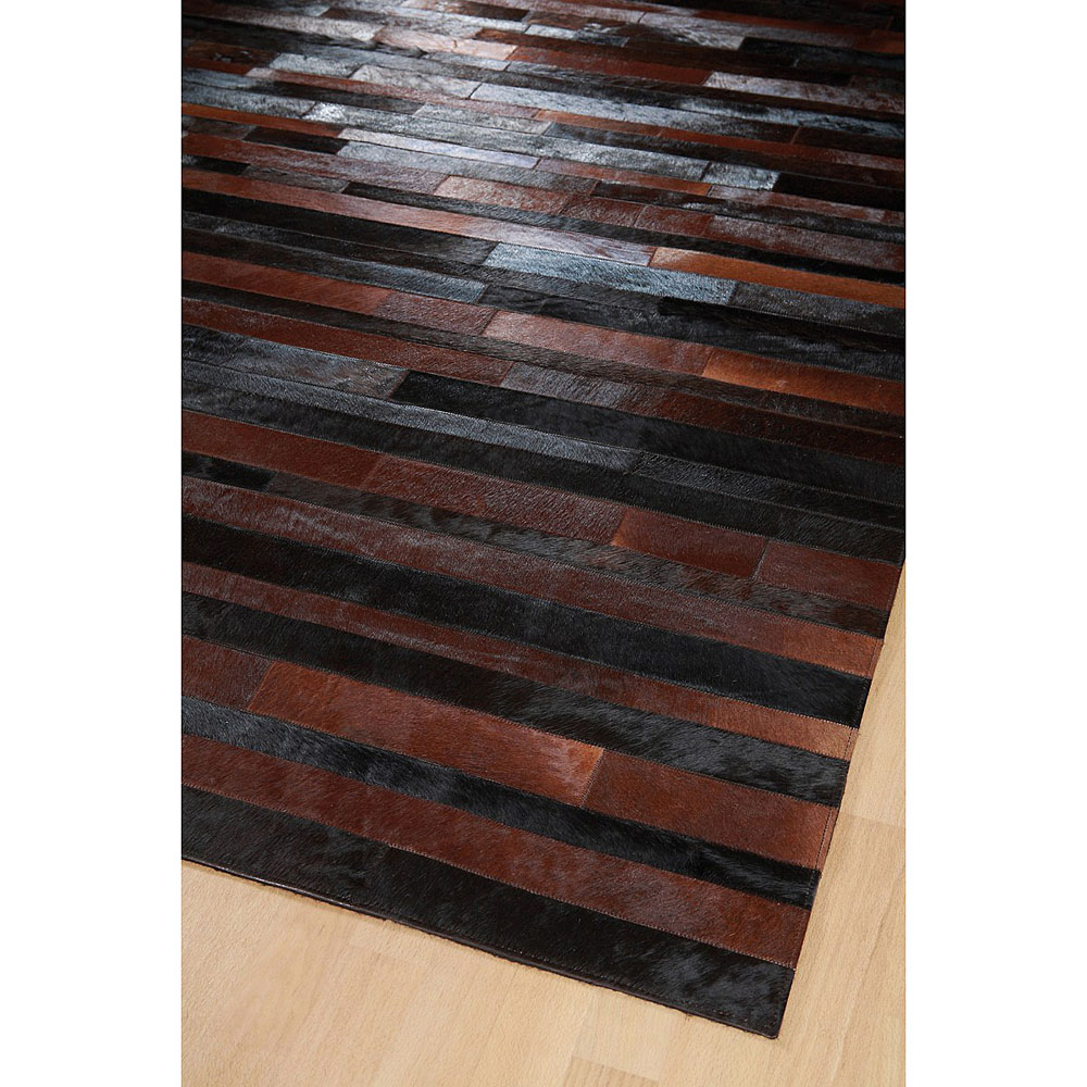 Tapis marron et noir jacob home spirit patchwork 200x300