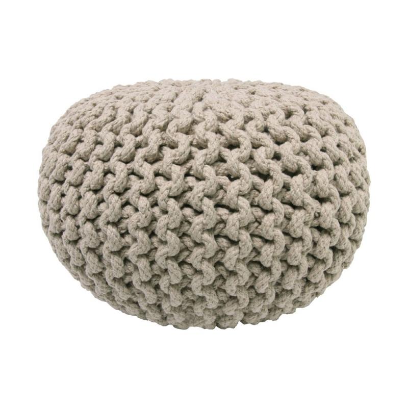 pouf enfant en coton beige lili nattiot 30x30. Black Bedroom Furniture Sets. Home Design Ideas