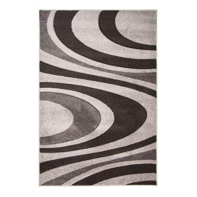 tapis moderne gris honesty flair rugs 120x170. Black Bedroom Furniture Sets. Home Design Ideas