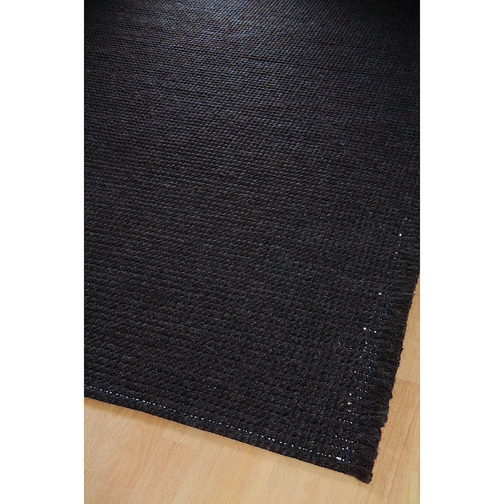 tapis en laine marron fonc raga home spirit 170x230. Black Bedroom Furniture Sets. Home Design Ideas