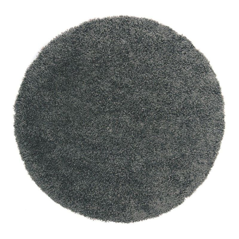 tapis shaggy rond noir 4cm flair rugs 133x133. Black Bedroom Furniture Sets. Home Design Ideas