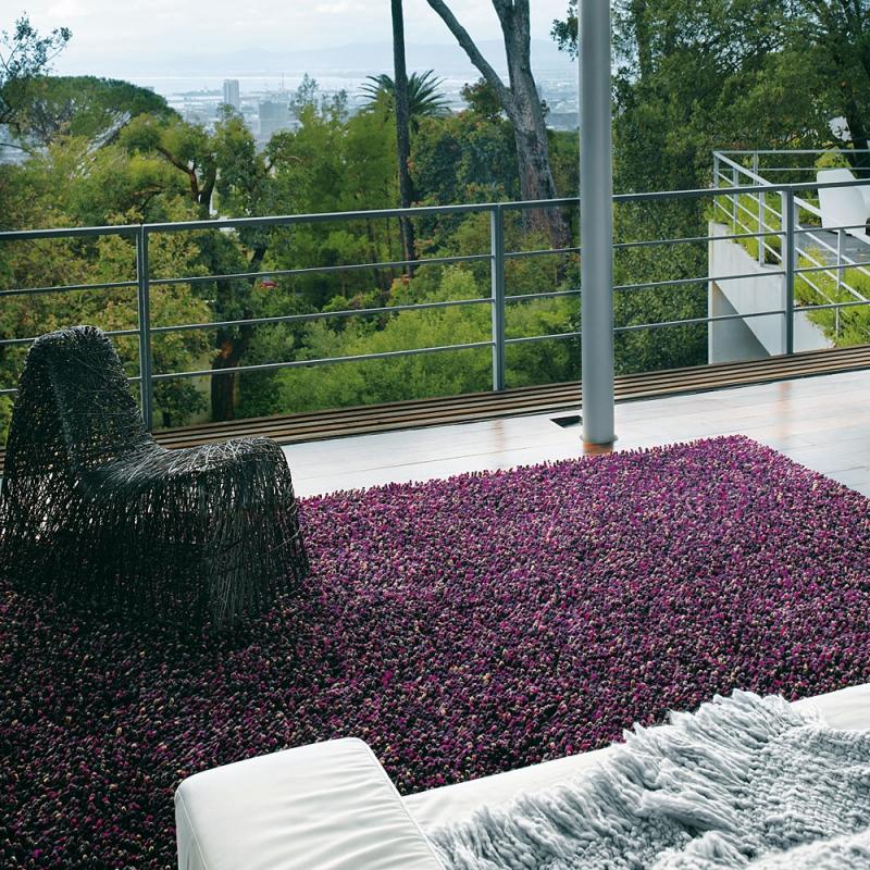 tapis shaggy brink campman rocks violet 200x300. Black Bedroom Furniture Sets. Home Design Ideas