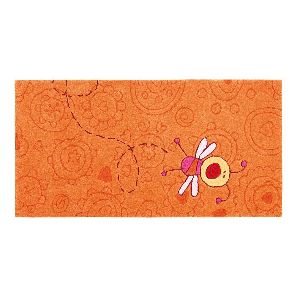 tapis enfant orange sigikid happy zoo summ summ 90x160. Black Bedroom Furniture Sets. Home Design Ideas