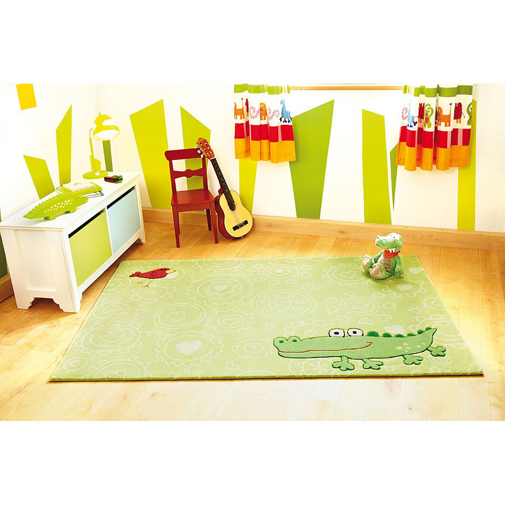 tapis enfant happy zoo crocodile vert sigikid 70x140. Black Bedroom Furniture Sets. Home Design Ideas