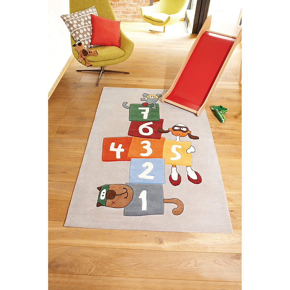tapis enfant sigikid bandidoleros jump multicolore 140x200. Black Bedroom Furniture Sets. Home Design Ideas