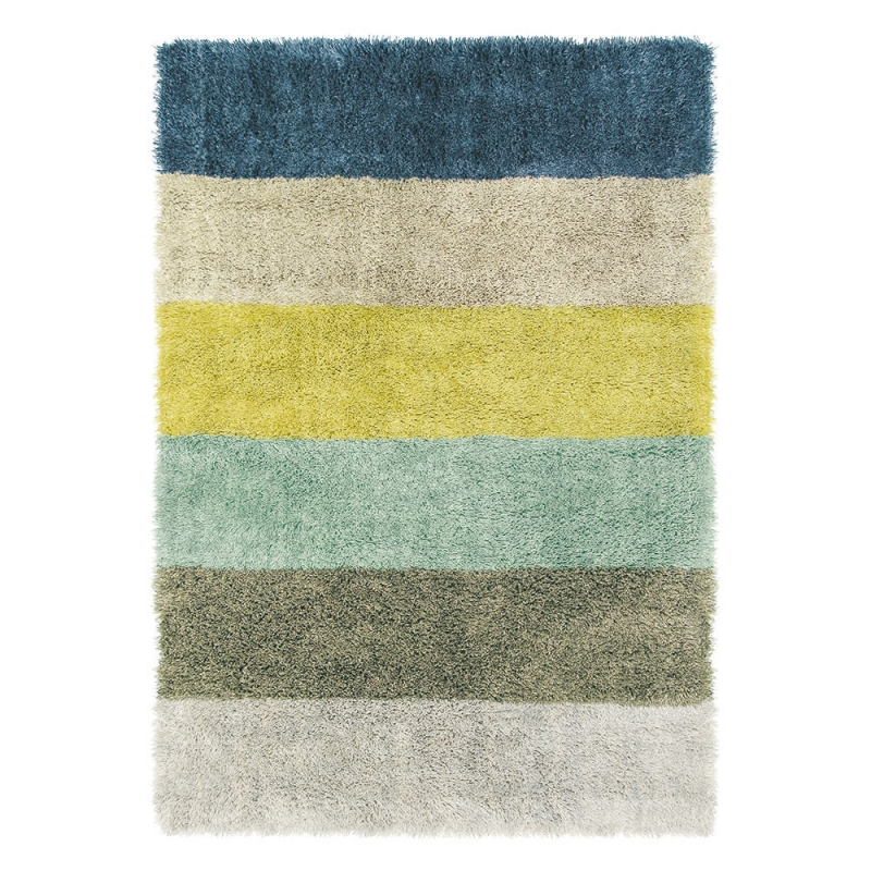 Tapis shaggy stonewash six brink campman multicolore 160x230 - Tapis shaggy multicolore ...