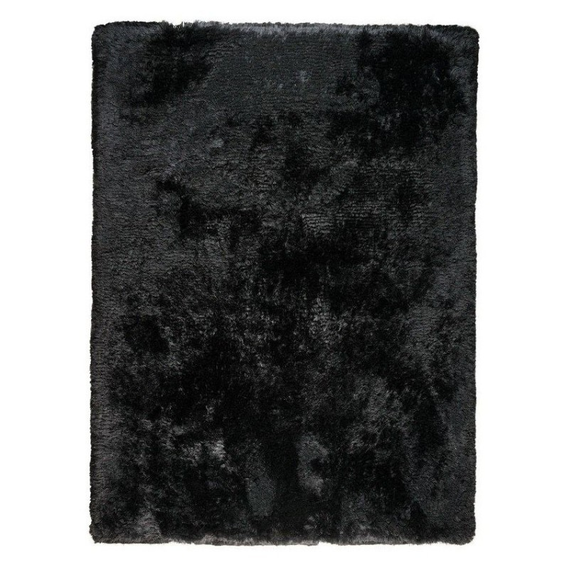 tapis shaggy noir tiss main ligne pure adore 200x300. Black Bedroom Furniture Sets. Home Design Ideas