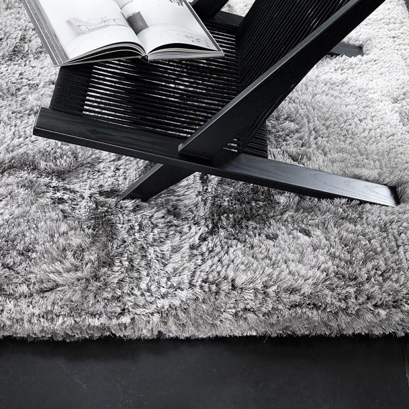 tapis shaggy tiss main gris adore ligne pure 140x200. Black Bedroom Furniture Sets. Home Design Ideas