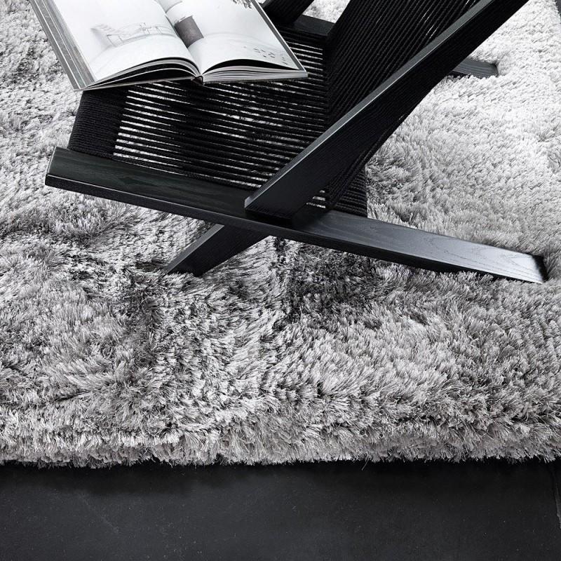 tapis tiss main gris shaggy adore ligne pure 200x300. Black Bedroom Furniture Sets. Home Design Ideas