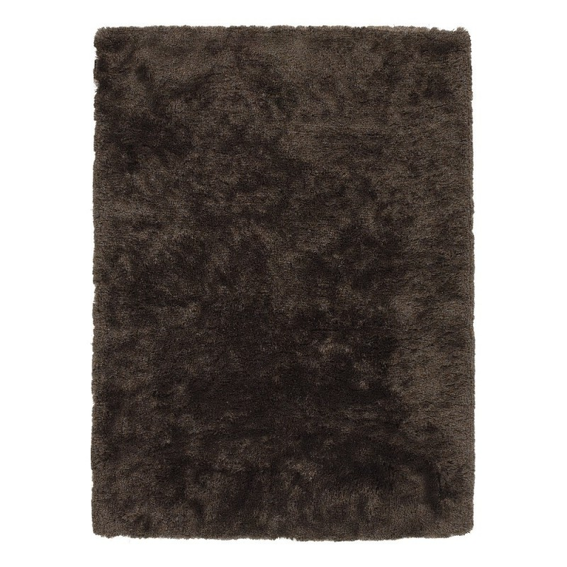 tapis angelo bergamo shaggy marron fonc tiss main 170x240. Black Bedroom Furniture Sets. Home Design Ideas