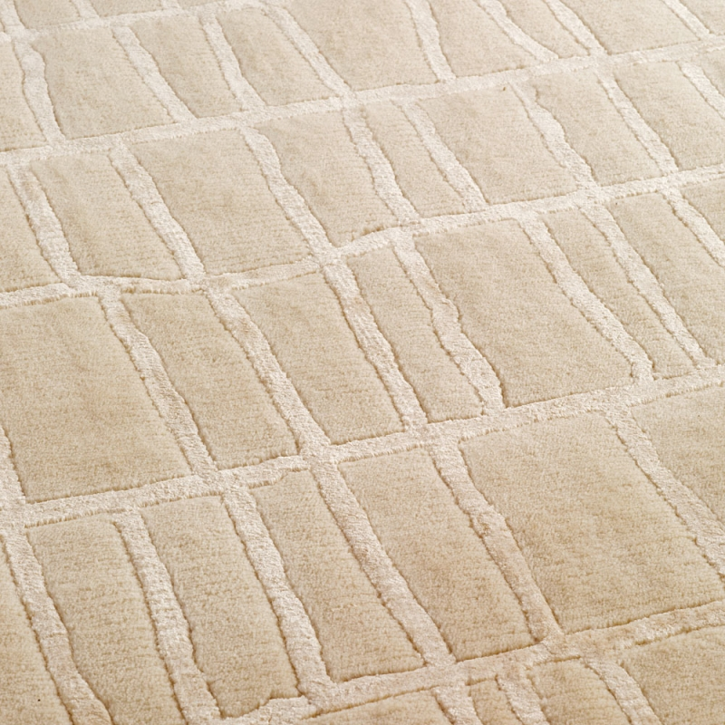 tapis en laine beige bali noue main angelo 250x350 With tapis laine beige