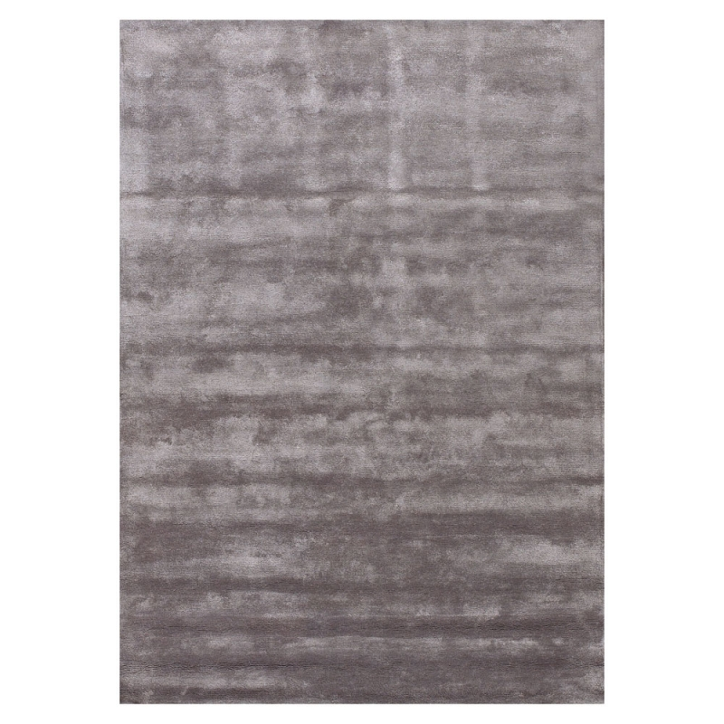 tapis annapurna angelo en viscose tuft main gris fonc. Black Bedroom Furniture Sets. Home Design Ideas