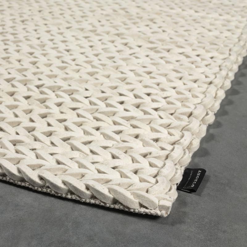Tapis angelo highland blanc en laine tiss main 170x240 for Tapis salon xxl