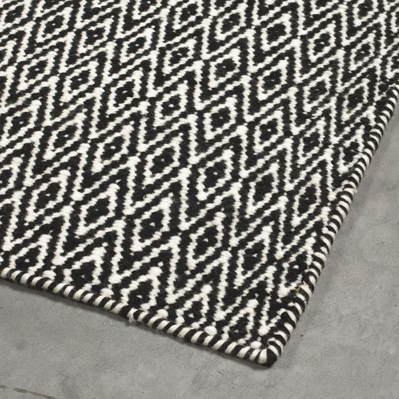 tapis moderne noir angelo mic mac - Tapis 200x300