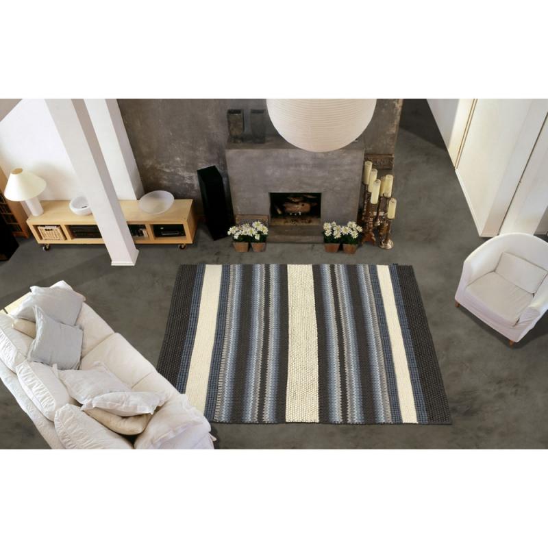 tapis angelo mood gris et beige tiss main 170x240. Black Bedroom Furniture Sets. Home Design Ideas