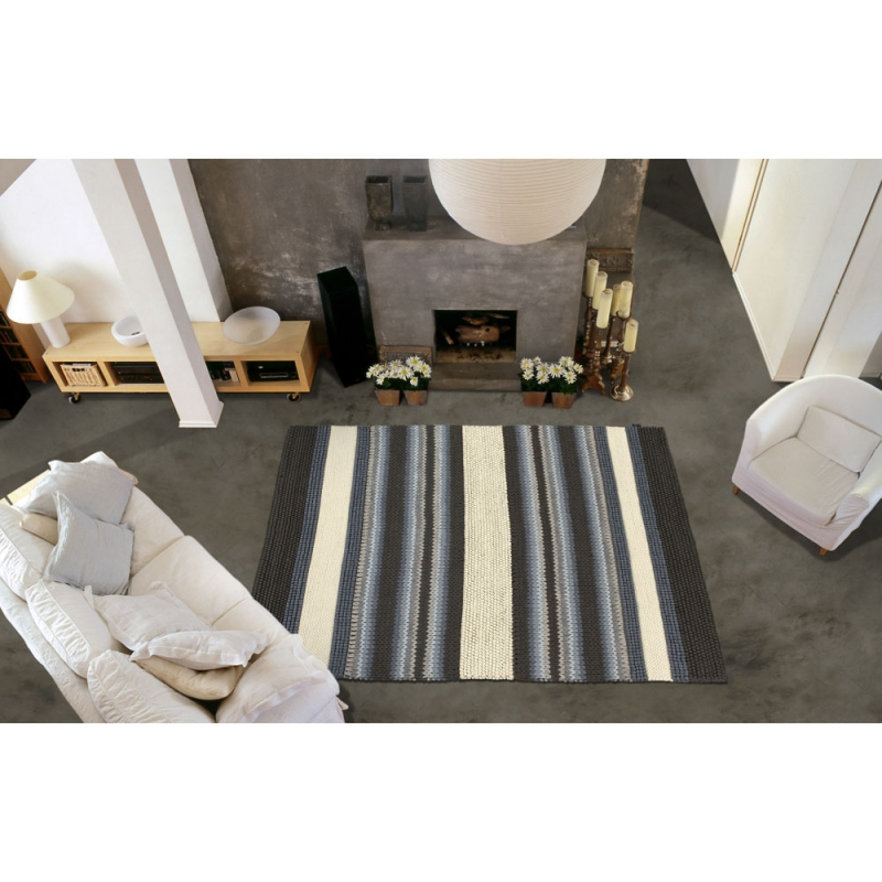 tapis mood angelo tiss main gris et beige 200x300. Black Bedroom Furniture Sets. Home Design Ideas