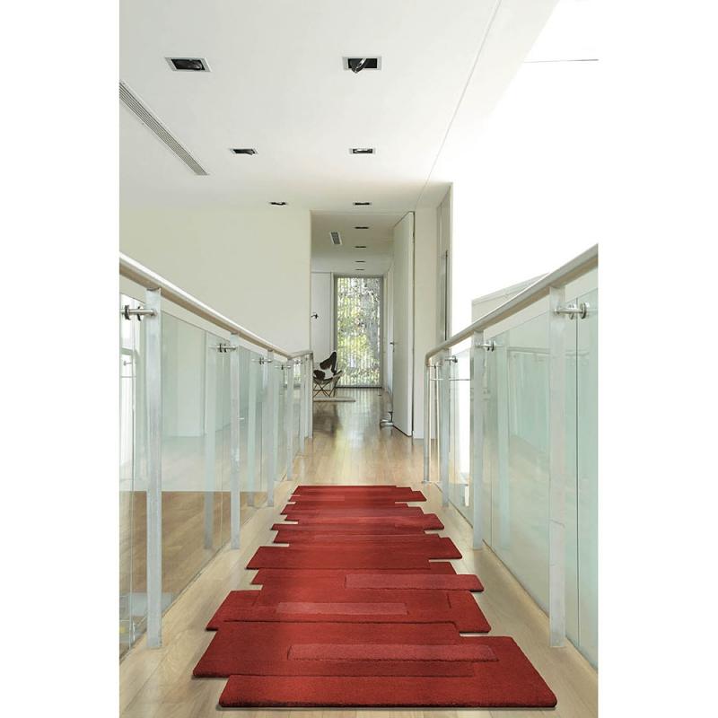 Tapis de couloir design pebbles rouge angelo 70x250 - Alfombra roja ikea ...
